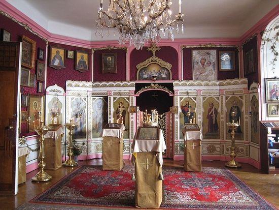Храм преподобного Сергия Радонежского в Будапеште. Интерьер.