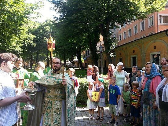 Празднование памяти преподобного Сергия в Стокгольме.