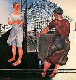 Александр Дейнека. На стройке новых цехов. 1926