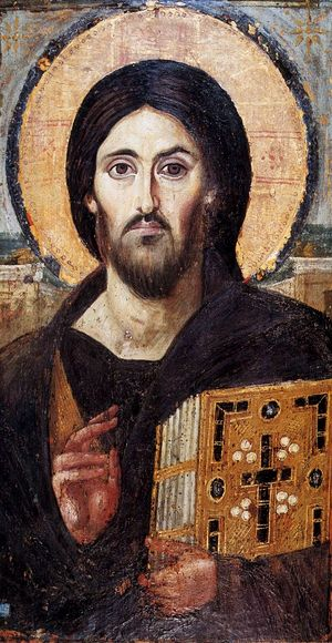The Lord Pantocrator. Encaustic icon. Sinai