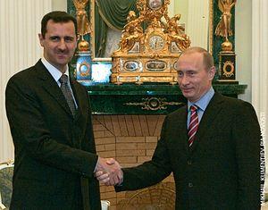 Глава Сирии Башар Асад и Президент России Владимир Путин. Фото: М.Климентьев / РИА Новости