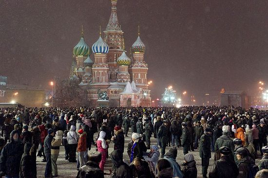 New Year's Eve on Red Square.