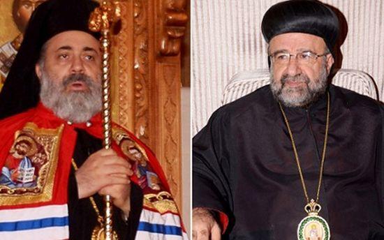 Слева - митрополит Павел, брат Патриарха Иоанна X
