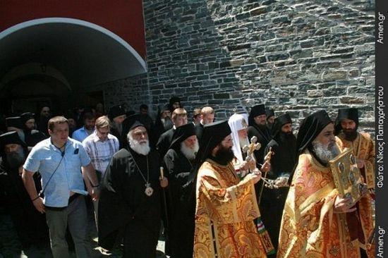 Патриарх Кирилл на Афоне