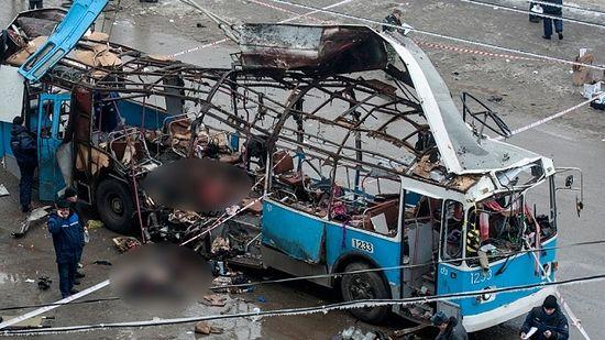 Взорванный в Волгограде троллейбус