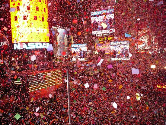 New Year's Eve on Times Square, New York.
