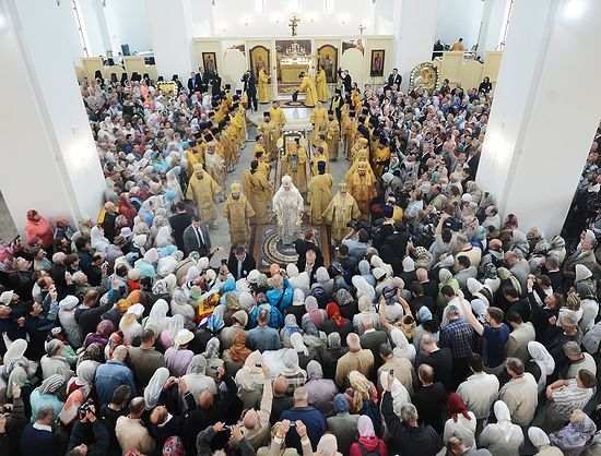 Освящение храма в честь иконы Пресвятой Богородицы «Скоропослушница» в таллинском районе Ласнамяэ