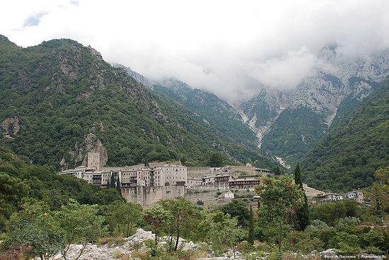Монастырь святого Павла, Афон. Фото: А. Поспелов / Православие.Ru