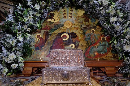 Дары волхвов в храме Христа Спасителя, Москва. Фото: Патриархия.Ru