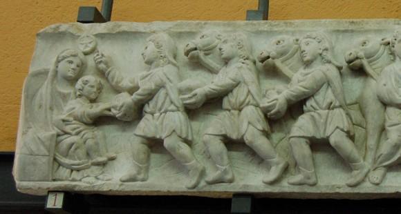 Фрагмент саркофага. IV в. Музеи Ватикана, Рим