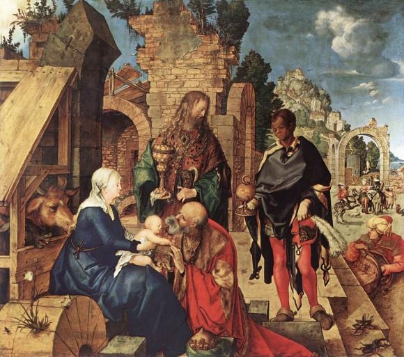 Альбрехт Дюрер. Поклонение волхвов. 1504 г. Галерея Уффици, Флоренция, Италия