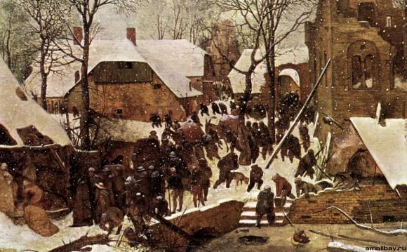 Питер Брейгель Старший. Поклонение волхвов в зимнем пейзаже. 1567г. Собрание Оскара Райнхарда, Швейцария