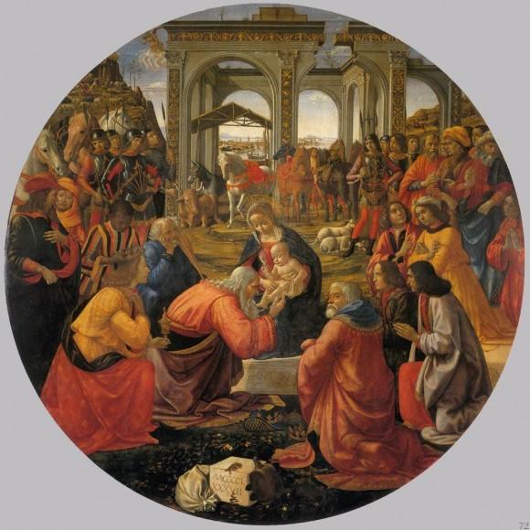 Доменико Гирландайо. Поклонение волхвов. 1487 г. Галерея Уффици, Флоренция, Италия