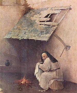 Иероним Босх. Поклонение волхвов. 1460-1516. Деталь.