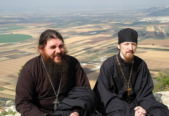 On Mount Tabor. A pilgrimage to the Holy Land, 2005. Photo: Hieromonk Ignaty (Shestakov)