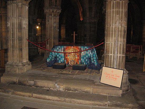 Гробница св. Кентигерна в соборе города Глазго