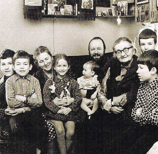 С тёщей, Еленой Владимировной Апушкиной. 1979 г.