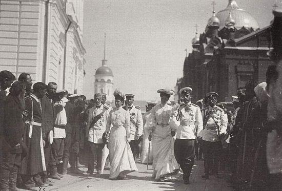 Family of Emperor Nicholas II in Sarov monastery. 1903