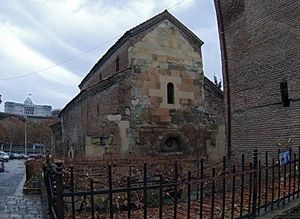 The Anchiskhati Basilica of St Mary is the oldest surviving church in Tbilisi, Georgia.