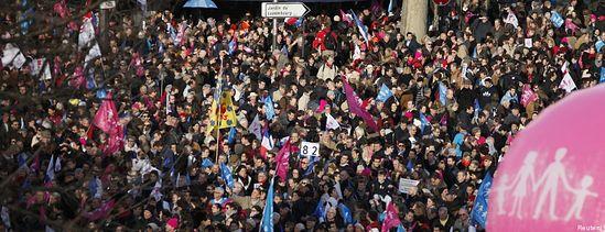 500 тысяч человек – митинг против однополых браков