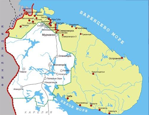 Карта новосозданной епархии