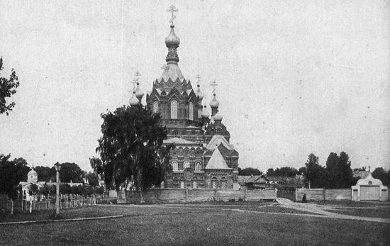 Соборный храм Шамординской обители с восточной стороны