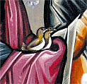 Joseph and Mary were not wealthy, so they took two turtle doves with them to offer as a sacrifice at the Temple.
