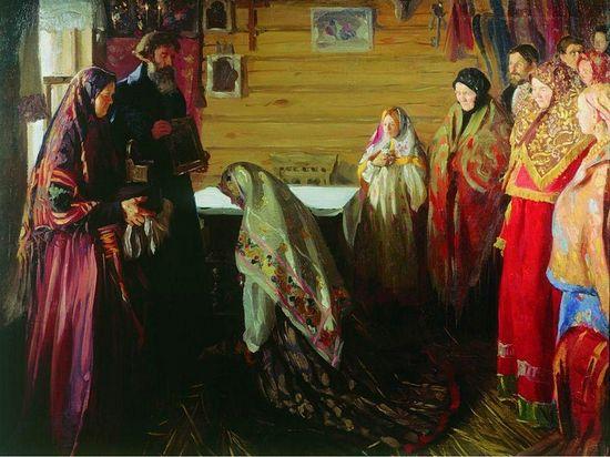 Иван Куликов. Старинный обряд благословения невесты в городе Муроме
