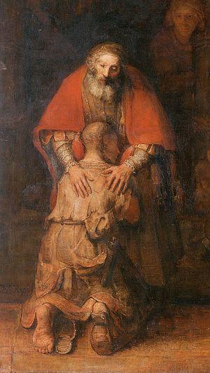 Рембрандт. Возвращение блудного сына. Фрагмент. Ок. 1666-1669 гг. Эрмитаж, СПб