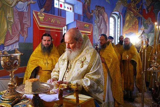 Патриаршее освящение храма Смоленского скита Валаамского монастыря 17 сентября 2007 г.