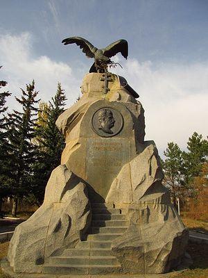 Памятник Н.М. Пржевальскому у его могилы