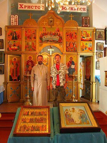 г. Джалал-Абад. С настоятелем Успенской церкви о. Сергием Хоришко