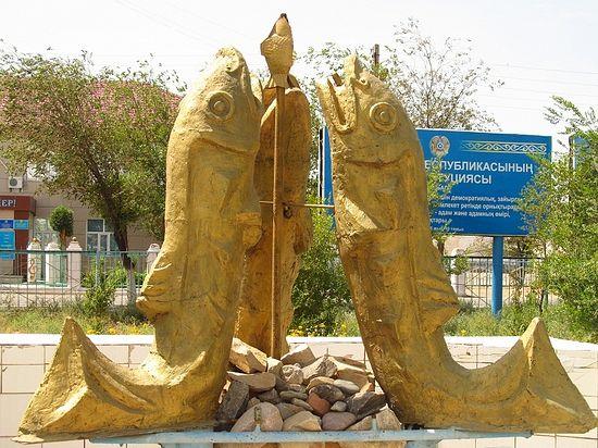 Ностальгический памятник в Аральске