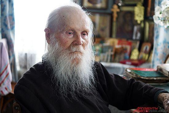 Самый старый житель Кунгура, 101-летний монах Никон был пострижен в великую схиму, высшую степень монашества. Фото: АиФ / Дмитрий Овчинников