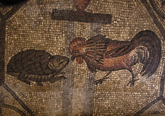 Ancient mosaic in the Patriarchal Basilica of Aquileia, Italy. Photo: D.Tsypin / Ptavoslavie.ru