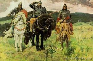 В. М. Васнецов. Три богатыря. Государственнная Третьяковская галерея. 1879