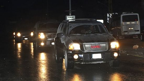 A convoy of Lebanese security vehicles transported the women to the Lebanese border