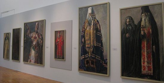 Корин П.Д. Русь уходящаая 2014 г. Портреты выставка в Третьяковской галерее