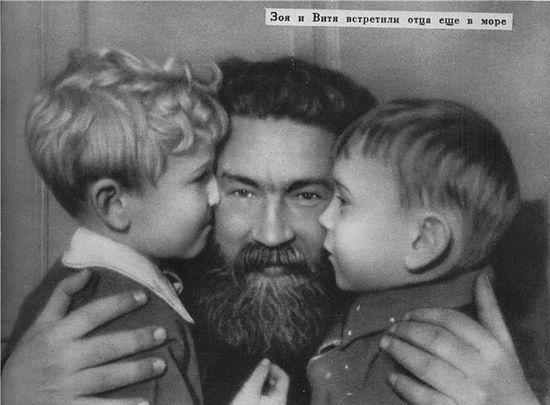 А. А. Полянский с детьми