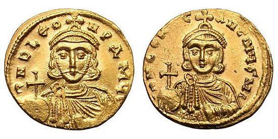 Монеты с изображением византийских императоров-иконоборцев