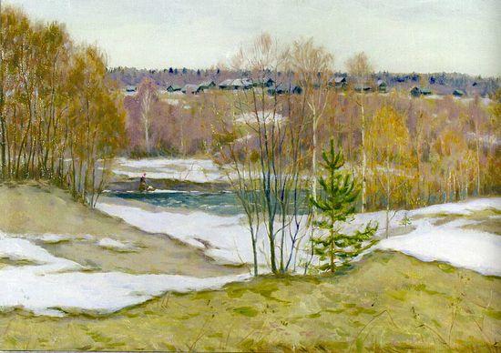 Апрельские проталины. Река Иткла
