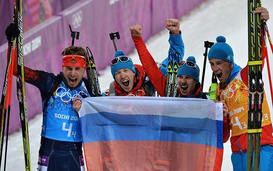 Сборная России по биатлону, победитель Олимпийских игр в Сочи