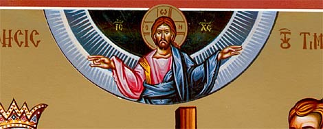 3. Christ appears about the congregation extending His blessings.