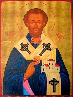 Преподобный Мартин Турский. Икона письма почившего Леона Лиддамента