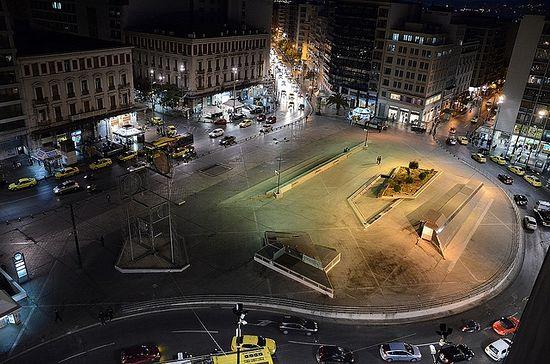 Площадь Омония, Афины. Современный вид