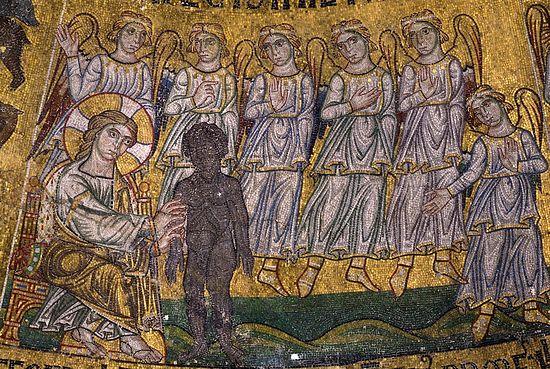 Сотворение человека (Быт. 2, 7) Италия. Венеция. Собор Святого Марка; XIII в.