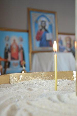 В православной молитвенной комнате сочинской Олимпиады