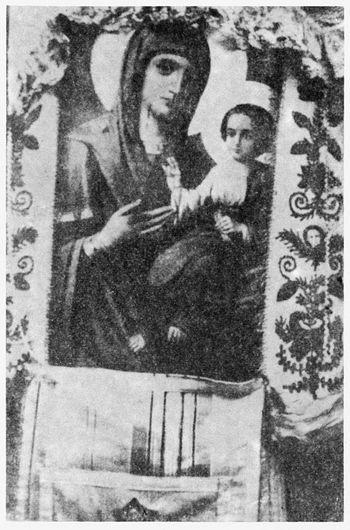 Икона Пресвятой Богородицы, перед которой молился в келье своей отец Афанасий