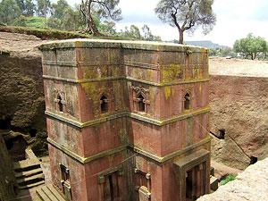 Храм св. Георгия (Лалибела, XII в.), высеченный в цельной скале