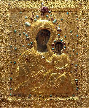 Хахульская икона Божией Матери из монастыря Новая Шуамта. XVI в.